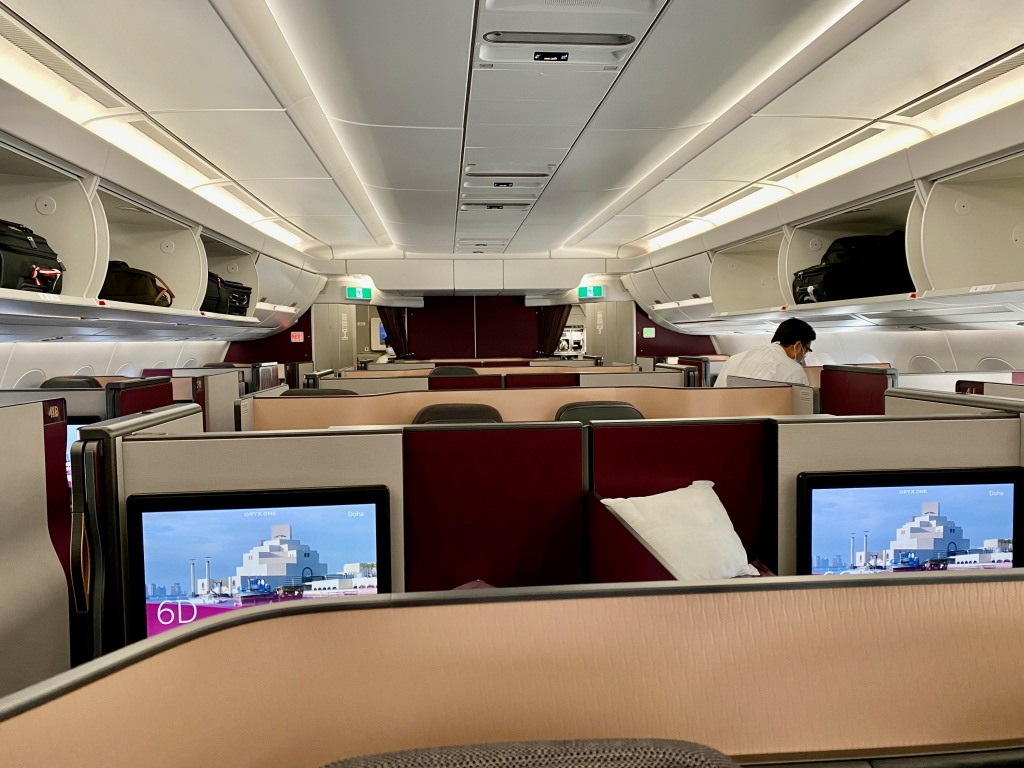 Qatar Airways A350-1000 Business Class Cabin