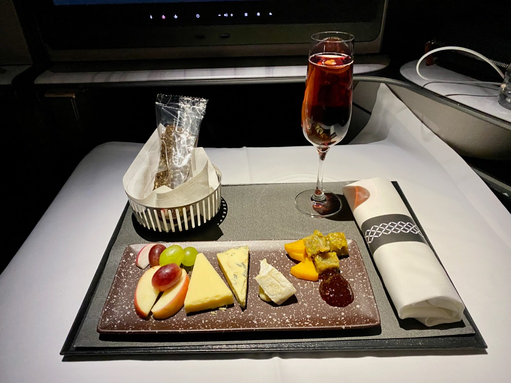 Qatar Airways Business Class Cheese Plate