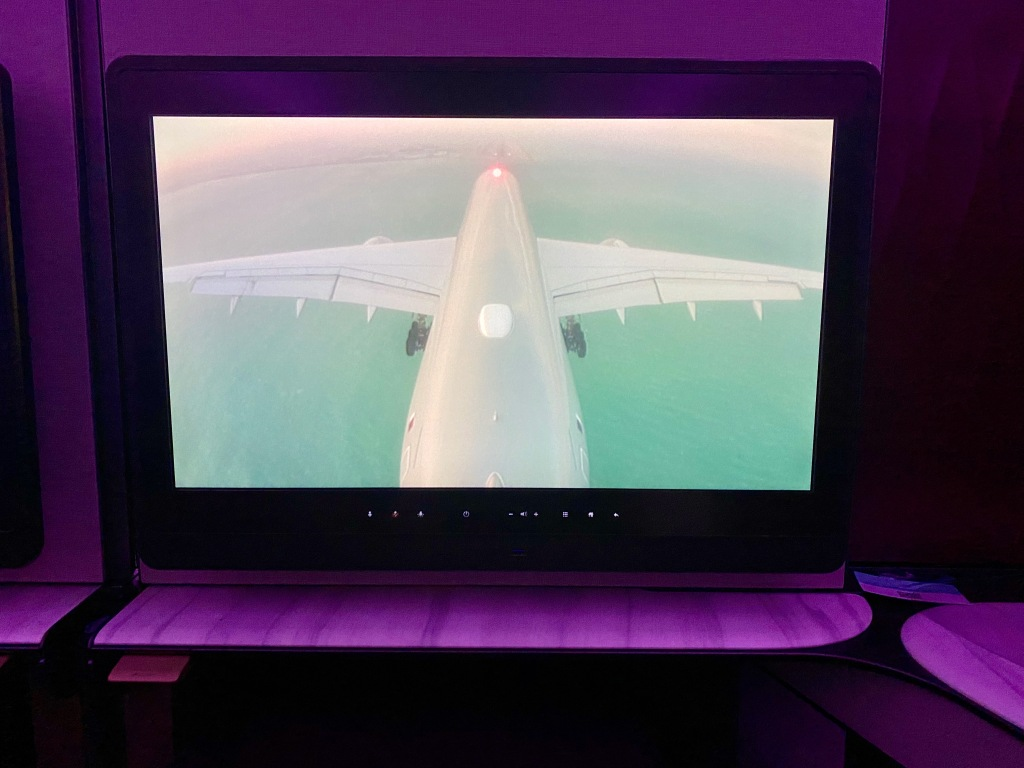 Qatar Airways A350-1000 Tail Camera Landing In Doha Qatar