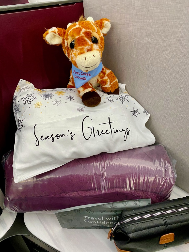 Qatar Airways Holiday Themed Pillow
